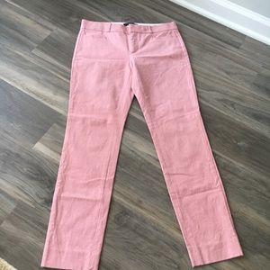 Banana Republic 0 Pink Skinny  Cropped Dress Pants